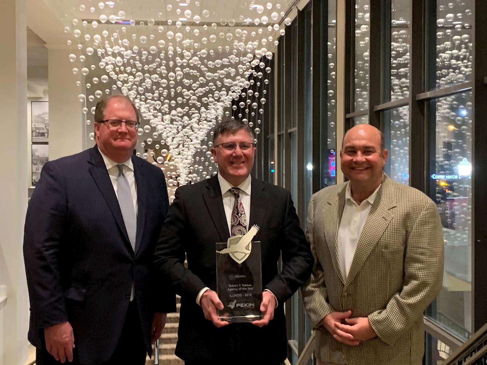 John Eck, Jr., Chris Leming, Todd Sowle Pekin Insurance Award Recipient